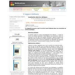 Comment conclure une dissertation littraire
