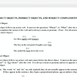 Direct objects indirect objects pearltrees direct objects indirect objects and subject complements ccuart Gallery
