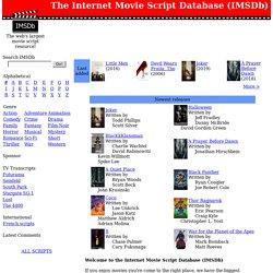 the internet movie script database imsdb pearltrees
