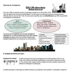 city life steve reich histoire des arts