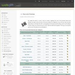 Web development price list | Pearltrees