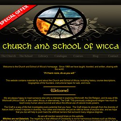 Welcome to The Church and School of Wicca's Homepage! | Pearltrees