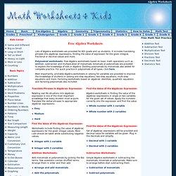 math worksheet : algebra worksheet generator  pearltrees : Math Com Algebra Worksheet Generator