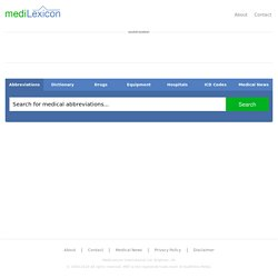 Medical Dictionary, Medical Abbreviations and Other Search Engines