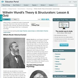 wundt and structuralism