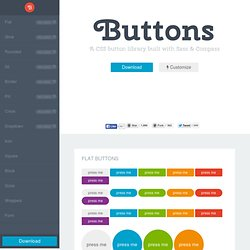 Buttons - A CSS button library built with Sass and Compass | Pearltrees