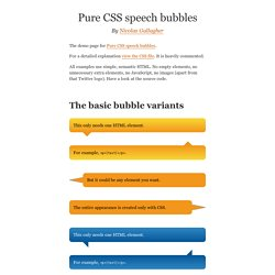 Demo: Pure CSS speech bubbles | Pearltrees