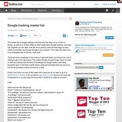 Google Dorks | Pearltrees