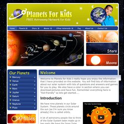 Planets For Kids - Solar System Facts and Astronomy | Pearltrees