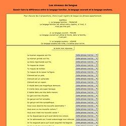 trois registres du langage exercices
