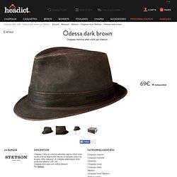4583caa2 Chapeau trilby vieilli - Odessa dark brown par Stetson.