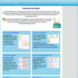 Free Homeschool Math Worksheets - free grade 6