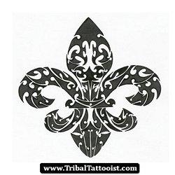 Tattoo Fleur De Lys Tribal 01 (JPEG Image, 363 × 350 pixels)
