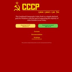 cccp combined community codec pack
