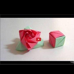 Origami Magic Rose Cube Valerie Vann