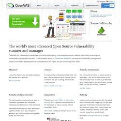 OpenVAS - OpenVAS - Open Vulnerability Assessment System