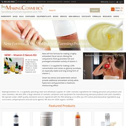 MakingCosmetics Inc  - Worldwide Supplier of Cosmetic Ingredients