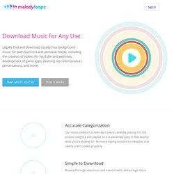 Melody Loops - Royalty-free Background Music | Pearltrees