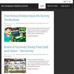roblox hack no survey or human verification