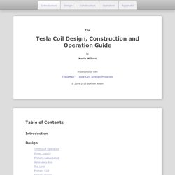 Tesla Coil Design, Construction and Operation Guide | Pearltrees