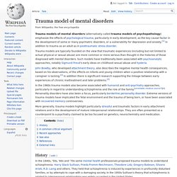 Psychopathology Linked To Trauma Teachtrauma >> What Is Trauma Pearltrees