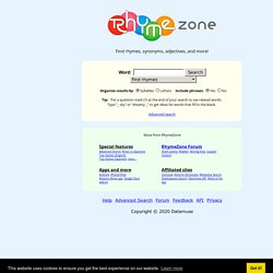 rhymezone rhyming dictionary and thesaurus pearltrees