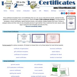 Certificate Templates   Free Printable Certificates Andu2026