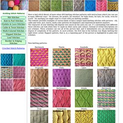 a1e82940306f Knitting Stitch Patterns