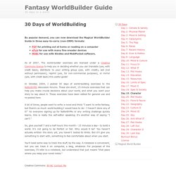 Fantasy World Generator. Random City Map Generator. 30 Days Of WorldBuilding