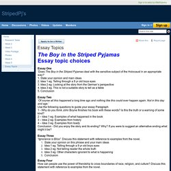 the boy in the striped pajamas pearltrees essay topics stripedpj s
