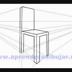 Dessin de linterieur dune maison en perspective for Chaise 3d dessin