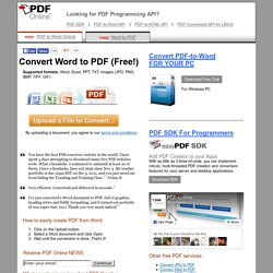 Online PDF Converter — Create PDF & Convert PDF to Word —Free