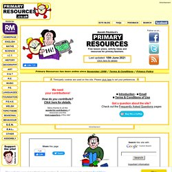 Primary Resources - Free teaching resources, lesson plans, teaching ...