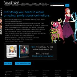 Anime Studio - Animation Software for Professionals