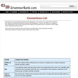 connective words list