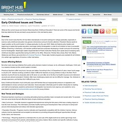 Early Childhood Education Issues And Trends Political And Education