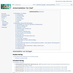 Arbeitsblätter für DaF – DaF-Wiki | Pearltrees