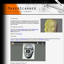 MakerScanner - open source 3d scanning | Pearltrees