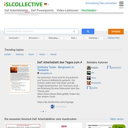 5000+ Kostenlose Arbeitsblätter von DaF-Lehrer für DaF-Lehrer ...