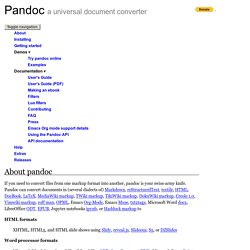 Pandoc - About pandoc | Pearltrees