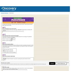 Make Your Own Word Search With Discovery Education S