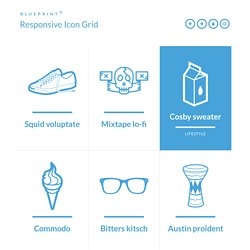Responsive design design pearltrees blueprint responsive icon grid malvernweather Choice Image