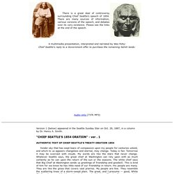 chief seattle speech 1854