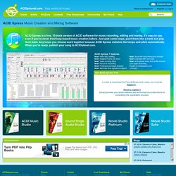 ACIDplanet com: Free Downloads: ACID Xpress | Pearltrees