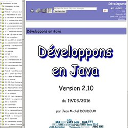 developpons en java