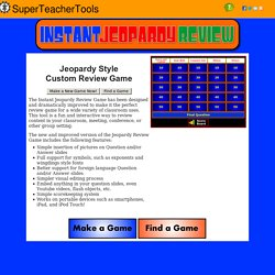 jeopardylabs - online jeopardy template | pearltrees, Powerpoint templates