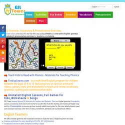 English Grammar, Vocabulary, Pronunciation Exercises for ESL