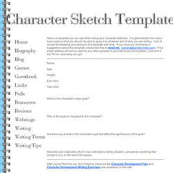 Creating characters pearltrees character sketch template pronofoot35fo Gallery