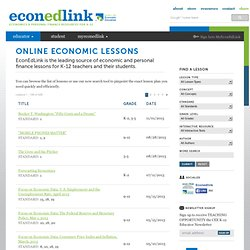 Free Online Economic And Personal Finance Lesson Search