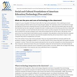 Social and Cultural Foundations of American Education/Technology